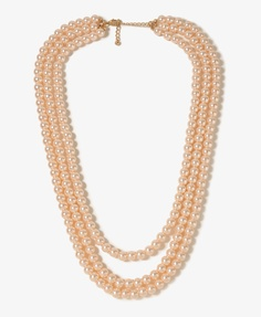 Multi-Strand Pearlescent Necklace | FOREVER21 - 1025596069