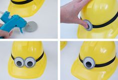 How to Make a Minion Party Hat Minion Party Decorations, Minion Party Favors, Minion Party Theme, Despicable Me Party, Ninjago Party, Elmo Party, Minion Birthday, Diy Party, Party Ideas