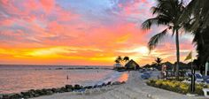 Sunset on Piscadera Beach at the Curacao Marriott Resort.