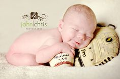 Love the sports baby pic ideas!