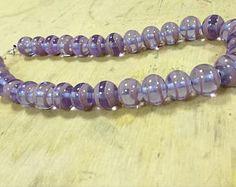 Purple ombre necklace beaded necklace violet grape summer