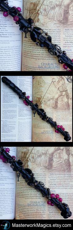 Plum Bedazzle magic wand by Masterwork Magics. #magic #wand