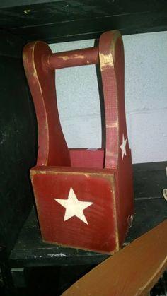 Primitive Handmade Countertop Utensil Holder/Carrier U pick