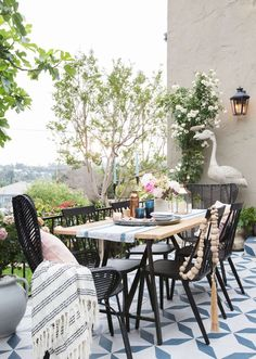 A modern traditonal patio with the perfect amount of quirk:)