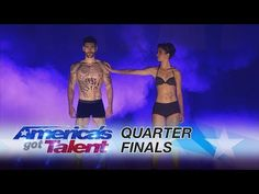 Oskar & Gaspar: Spellbinding Human Projection Act Shines - America's Got Talent 2017 - YouTube