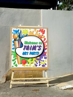 Welcome Panel for the Amazing Artist Party Art Classroom Door, Kids Painting Class, Art Party Decorations, Fun Crafts, Crafts For Kids, Color Flashcards, Aspen Colorado, Art N Craft, 12th Birthday