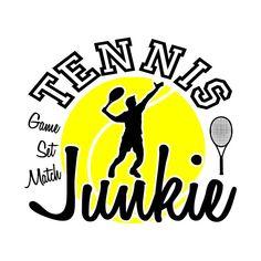 Tennis junkie Sport - Tennis - T-Shirt Sport Tennis, Matching Games, Tennis Players, Best Gifts, Stickers, Logos, Sports, T Shirt, Tennis