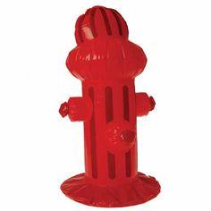 inflatable fire hydrant decoration $4.50 birthdaydirect.com