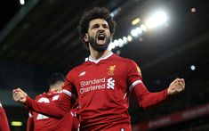 Download wallpapers Mohamed Salah, 4k, goal, portrait, Liverpool FC, Premier League, England, Egyptian football player
