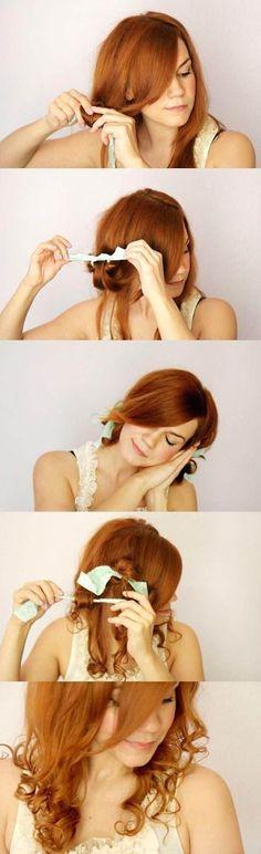 step by step rag curls