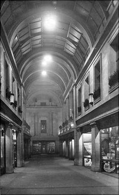 Council House Arcade, Old Market Square, Nottingham, c 1929 Old Pictures, Old Photos, Nottingham City, Council House, Arcade, Past, Nostalgia, Buttons, Memories