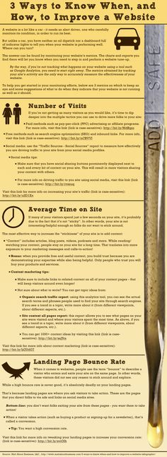 """#Infographic: """"3 Ways to Know When & How to Improve a #Website""""  via @MattSMansfield 