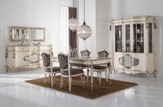 Silver Leaf Dining Room Furniture - Top and Best Italian Classic Furniture