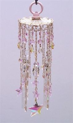 crystal wind chimes | Star Light Vintage Crystal Wind Chime | Sheris Crystal Designs by roseann