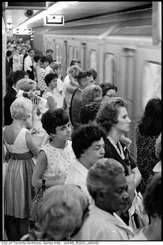 Toronto, the TTC. Yonge and Bloor Station in 1966 Toronto Ontario Canada, Toronto City, Vintage Photography, Street Photography, Toronto Photography, Old Photos, Vintage Photos, Toronto Subway, Canadian Things