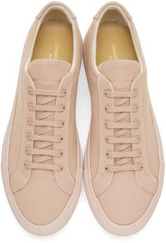 online store 659df d05db Common Projects - Pink Canvas Achilles Low Sneakers Sneakers, Common  Projects, Mens Footwear,