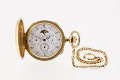IWC Herrentaschenuhr a 152 GG, 750. Weißes Zifferblatt mit römischen Stundenziffern und arabisc — Uhren