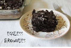 YUMMY TUMMY: Super Moist Eggless Brownies with Chocolate & Oreo Topping ( No Butter, No Oil )