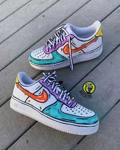 """Go on to """"Richy Customs"""" website to find these shoes Dr Shoes, Hype Shoes, Vans Shoes, Me Too Shoes, Custom Painted Shoes, Custom Shoes, Custom Sneakers, Nike Custom, Custom Af1"""