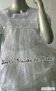 Bata em organza bordada orixá moda afro religiosa. Maria graciete · roupas  de santo df28eb1b4af46