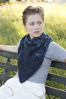 Either Or Shawl, knit in Zen Yarn Garden Serenity Silk Single and Worsted
