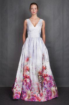 Printed wedding dress. This print is incredible.