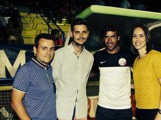 Amb Raúl González, ex jugador del Reial Madrid, al #COTIF (l'Alcúdia). Una experiència recomanable i una bona persona.