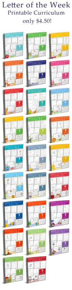 Are you looking for fun and interactive ways to teach your child all the letters of the alphabet? Then this awesome curriculum is for you! This complete letter of the week - printable preschool curriculum set is not only $4.50.