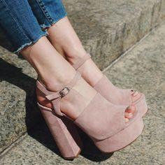 Steve Madden Peep Toe Chunky Heels