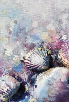 """""""This story begins with unique, gorgeous seashells that I found when I was walking by the sea."""" Marija Komanic shares her mixed-media shell painting inside Somerset Apprentice."""