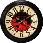 "Found it at Wayfair - Ashton Sutton Decorative Home 18"" Poppy Dial Wall Clock"