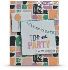 CARD: Time to Party from Confetti Celebration Birthday Cards For Men, Happy Birthday, Stampin Up Catalog, Homemade Cards, Stampin Up Cards, Confetti, Card Stock, Card Ideas, Card Making