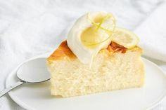 For a twist on your standard cheesecake, take the crust off! This light and bright lemon version is the perfect bake for afternoon tea. Cheesecake With Whipped Cream, Lemon Cheesecake Recipes, Lemon Desserts, Lemon Recipes, Self Saucing Pudding, Moist Cakes, Savoury Cake, Clean Eating Snacks, Have Time
