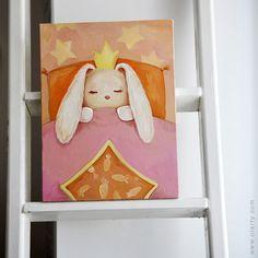 A Little Princess's Dream. Illustration by Olga Yatsenko. www.olarty.com