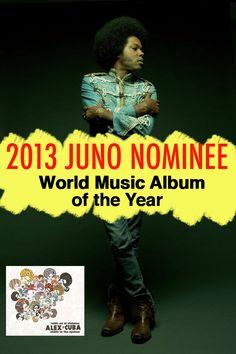 Graphic for Alex Cuba's 2013 Juno Nomination.    www.ashleyladouceur.com
