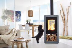 Kamin-Ofen SPARTHERM Ambiente a8 Standkamin Stahlkamin große Glasscheibe - Klassischer, geradliniger Kaminofen mit Holzlagerfach