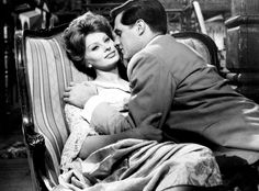 "Actress Sophia Loren (b. 1934),with actor John Gavin (b. 1931), in Michael Curtiz's film, ""A Breath of Scandal,"" 1960."