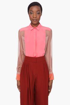 chloe pink sheer blouse