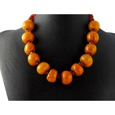 Antique Baltic and Tribal Amber Bead Necklace by ElegantArtifacts, $950.00