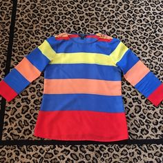 J Crew multi color top Gently worn J Crew top J. Crew Tops Blouses