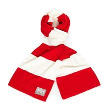 Show details for Red & White Cotton-Merino Scarf Retro Football Shirts, White Cotton, Euro, Red And White, Soccer, Classic, Swimwear, Vintage, Tops