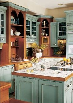 New kitchen cabinets ideas colors natural wood layout Ideas Kitchen Floor Plans, Kitchen Flooring, Kitchen Backsplash, Tile Counters, Cuisines Design, Beautiful Kitchens, My Dream Home, Home Kitchens, Kitchen Decor