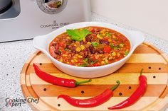 Рецепт мексиканского супа Чили кон карне для кухонной машины Kenwood Cooking Chef KM096