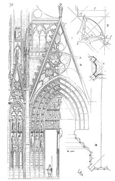 Portal Study - Notre Dame de Rouen - Violet le Duc