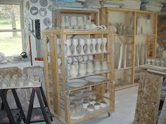 Scott Frankenberger's pottery studio