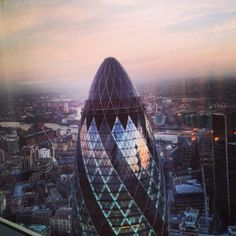 Beautiful view from Heron Tower