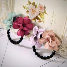 The Cheapest Price 1pcs Lovely Flower Gray Ball Elastic Hair Bands Toys For Girls Handmade Bow Headband Scrunchy Kids Hair Accessories For Womens Making Things Convenient For Customers Girl's Hair Accessories