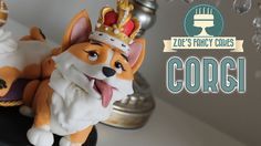 Corgi cake topper fondant or polymer clay model - Zoes Fancy Cakes