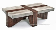 Rustic Chic Coffee Table by Woodland Creek Furniture.  Available in Custom Sizes.