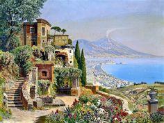 Paisagem Italiana quebra-cabeça em Obras de Arte quebra-cabeças em TheJigsawPuzzles.com